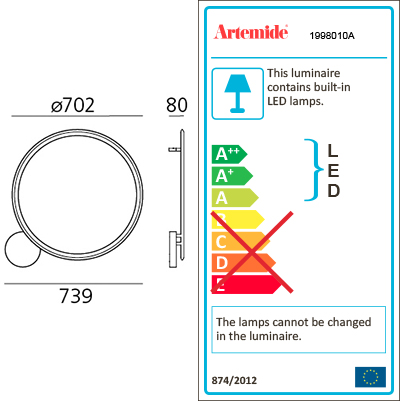 ARTEMIDE DISCOVERY WALL/CEILING