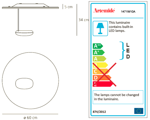 ARTEMIDE DROPLET MINI LED WALL/CEILING