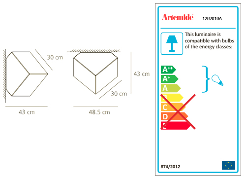 ARTEMIDE EDGE 30 WALL/CEILING