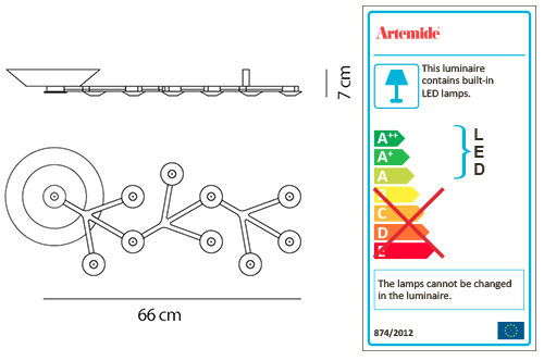 ARTEMIDE LED NET LINE 66 CEILING