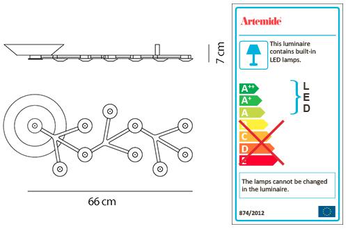 ARTEMIDE LED NET LINE 66 CEILING