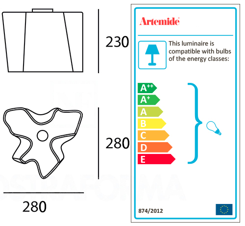 Artemide lampe de plafond logico logico mini ceiling for Plafond logic