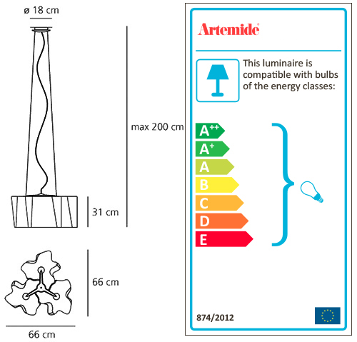 ARTEMIDE LOGICO SUSPENSION 3x120°