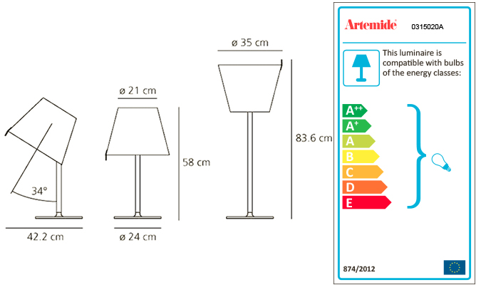 ARTEMIDE MELAMPO TABLE