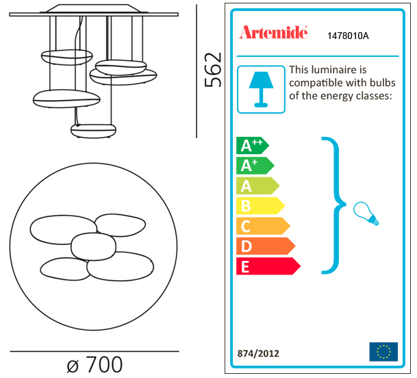 ARTEMIDE MERCURY MINI CEILING