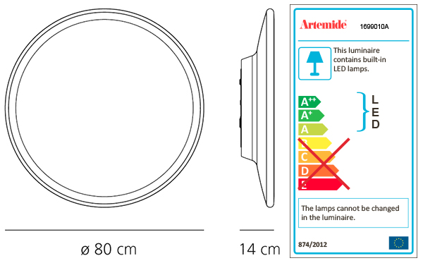 ARTEMIDE NEBULA WALL/CEILING