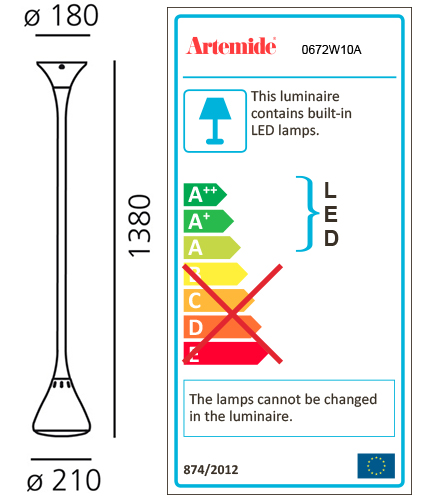 ARTEMIDE PIPE LED SUSPENSION