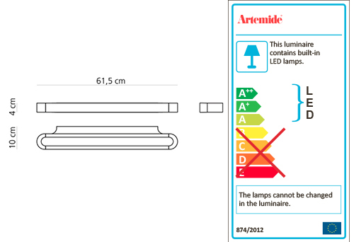 ARTEMIDE TALO 60 LED WALL