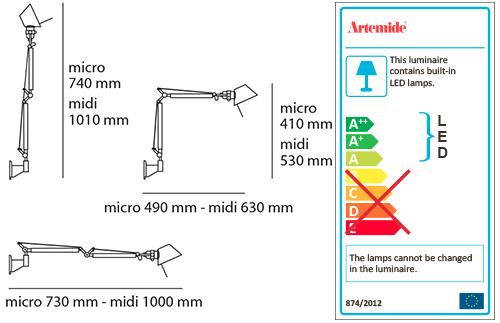 ARTEMIDE TOLOMEO MICRO LED WALL