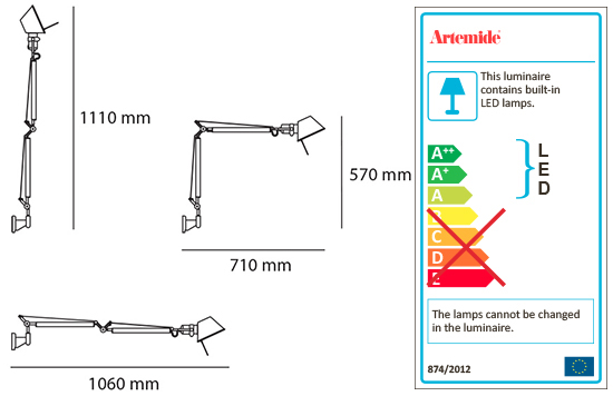 ARTEMIDE TOLOMEO MINI LED WALL