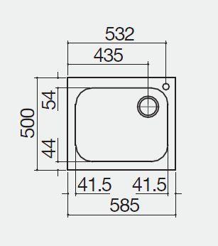 vasca quadra 1IS6060/1 misure