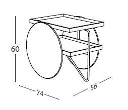 casamania table basse chariot. Black Bedroom Furniture Sets. Home Design Ideas