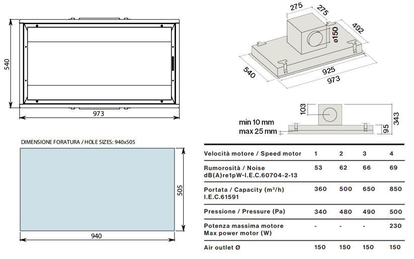 falmec hotte au plafond nube 90 cm inox avec moteur sous combles da 1100 m3 h acier. Black Bedroom Furniture Sets. Home Design Ideas
