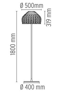 Flos Tatou f sizes