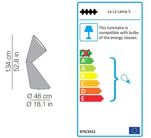 Kundalini La la lamp sizes