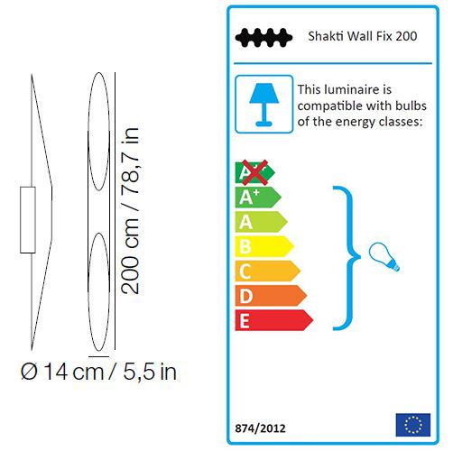 Kundalini Shakti Wall Fix sizes