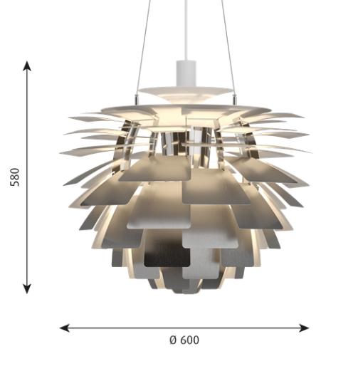 Louis Poulsen PH Artichoke sizes