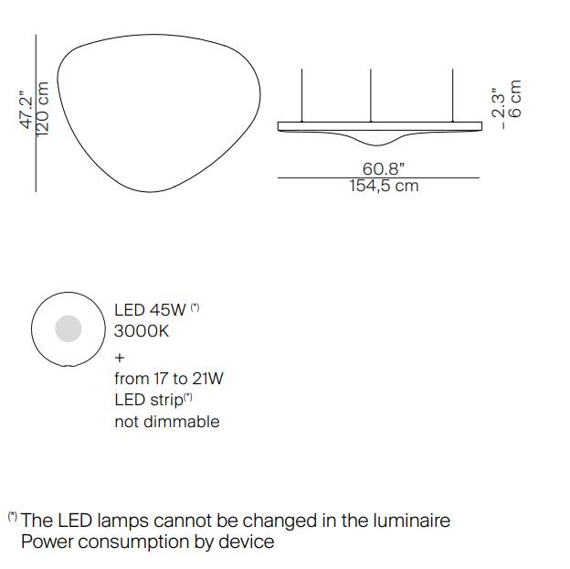 luceplan misure petale
