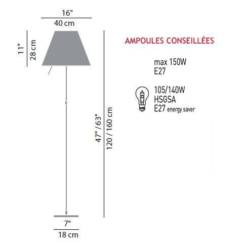 luceplan costanza sizes