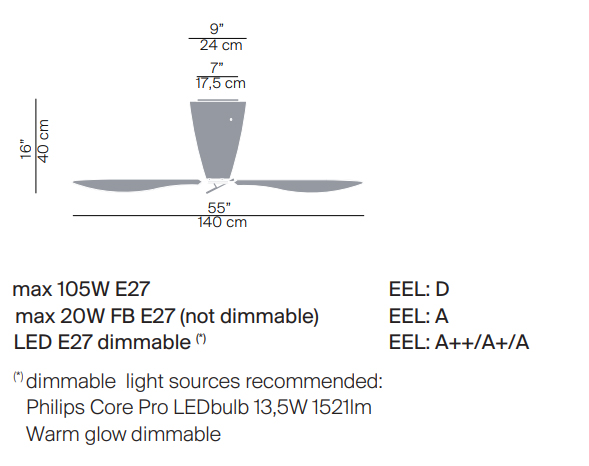 luceplan misure blow'