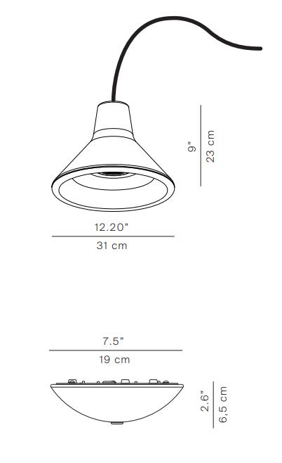 luceplan misure archetype