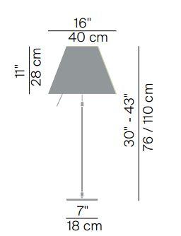 luceplan misure costanza