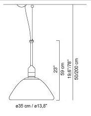 luceplan misure'