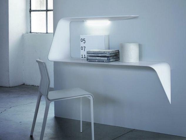 Mdf italia mensola scrivania da parete con illuminazione led mamba