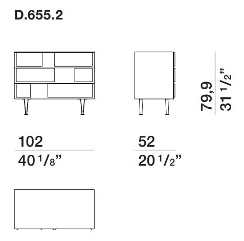 Gio Ponti D.655.2 Molteni & C