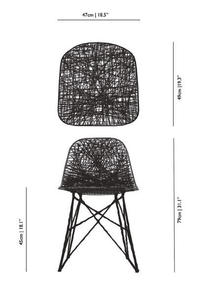 Moooi carbon chair misure