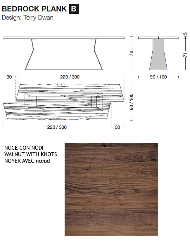 Riva 1920 tavolo Bedrock