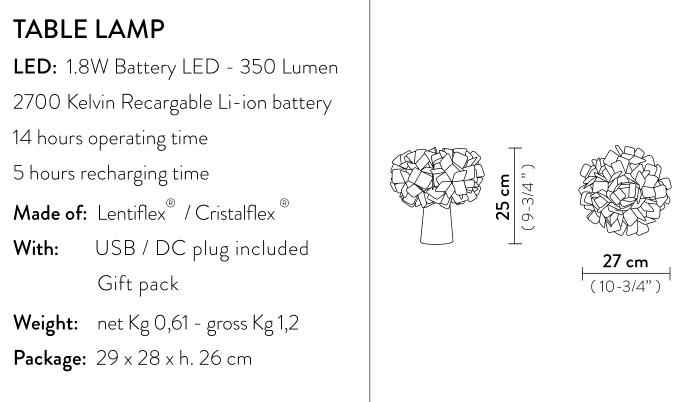 Slamp Clizia Battery Powered