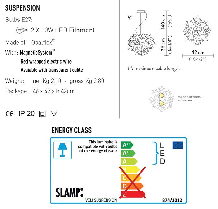 slamp veli large suspension misure