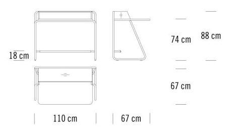 Thonet S 1200 sizes