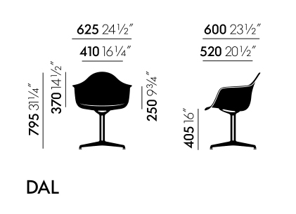 Vitra DAL sizes
