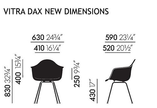 Vitra DAX Nuove dimensioni