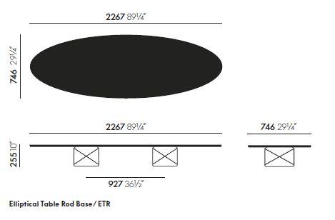 vitra elliptical table etr sizes