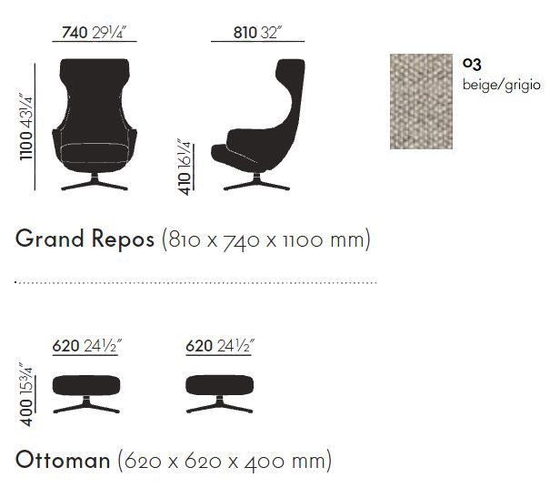 Vitra grand repos full size of chairvitra grand repos for Grand repos chair replica