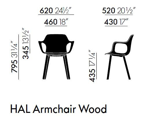 Vitra Hal armchair wood