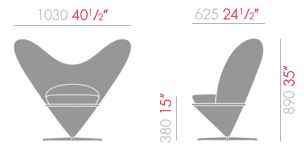 vitra poltrona heart cone chair sizes