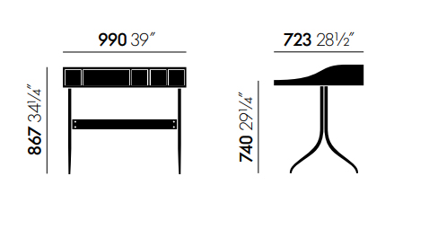 vitra home desk sizes