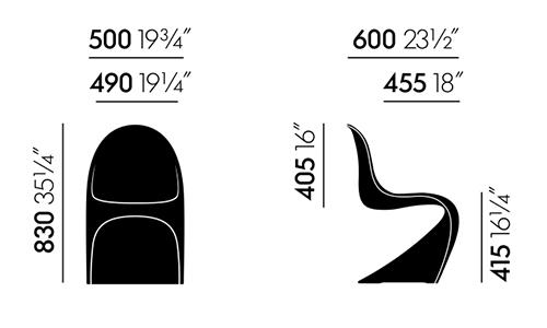 Vitra panton chair misure