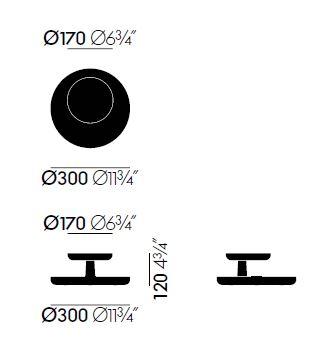 vitra rotary tray sizes