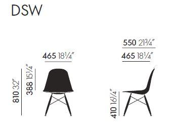 Vitra DSW sizes