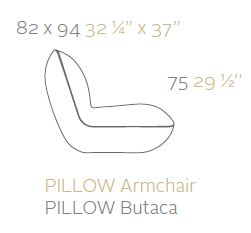 vondom pillow poltrona sizes