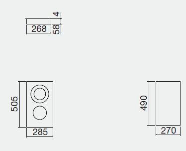 piano cottura 1PVTC3 misure