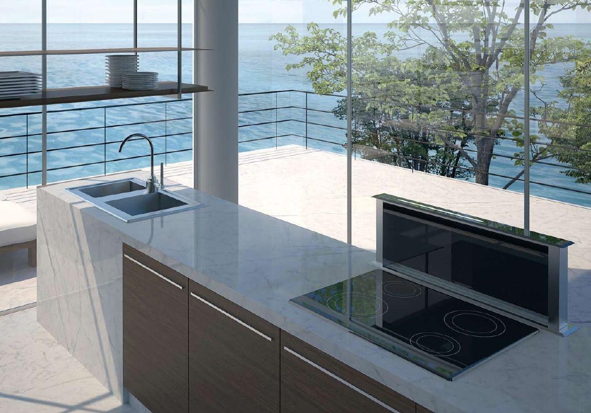 best lift vetro 90 cm cappa arredo da cucina downdraft ebay. Black Bedroom Furniture Sets. Home Design Ideas