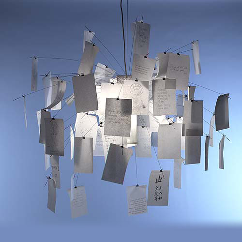 INGO MAURER lampada a sospensione ZETTELZ 5 L 600 cm  eBay