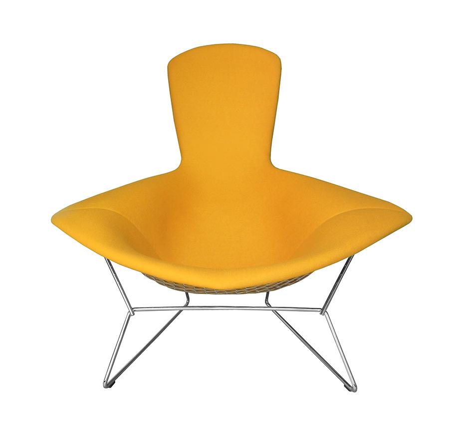 Knoll poltrona relax poggiapiedi bertoia rivestiti in for Poltrona design ebay