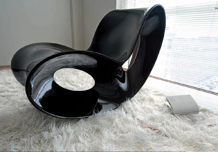 magis voido poltrona a dondolo in polietilene rocking chair design